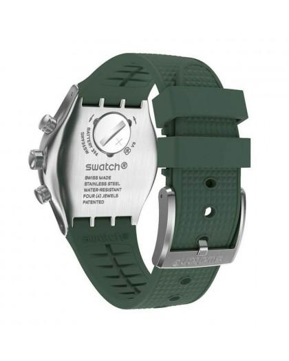 Crono uomo Forest Green Irony Swatch YVS462