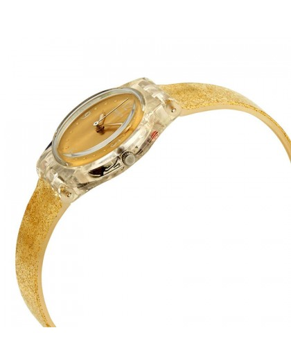 Orologio donna Swatch dorato Golden Glistar LK382