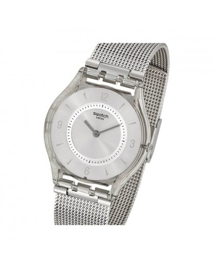 Orologio Swatch unisex acciaio Skins Metal Knit SFM118M