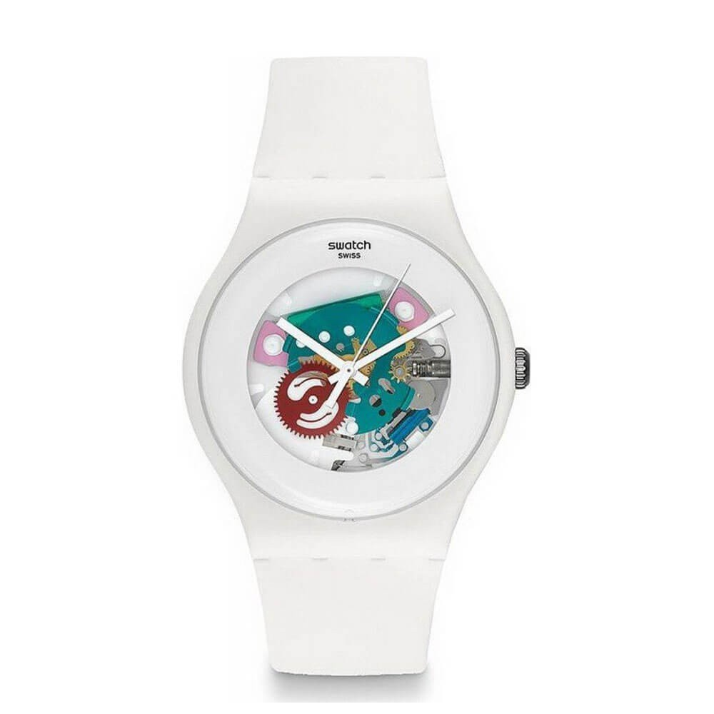 Orologio Swatch unisex White Lacquered SUOW100