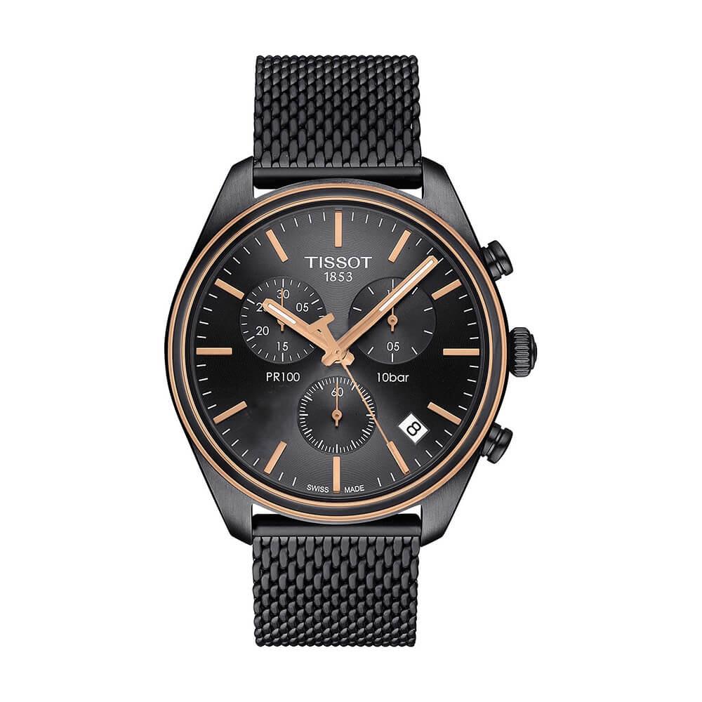 Orologio uomo Tissot PR100 chronograph T1014172306100