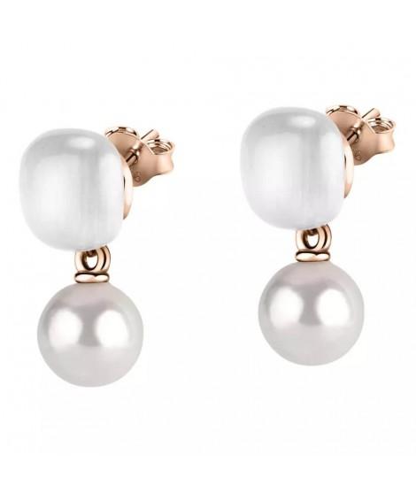 Morellato Orecchini donna in argento con perle SATC07