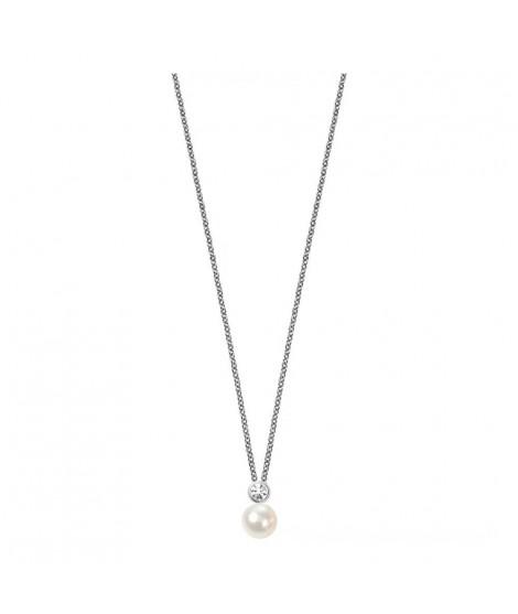 Morellato SANH02 Collana da donna con ciondolo in argento Sterling 925 e perla
