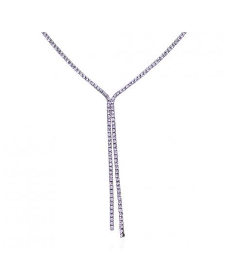 Stroili Collana in metallo e cristalli viola 1663889