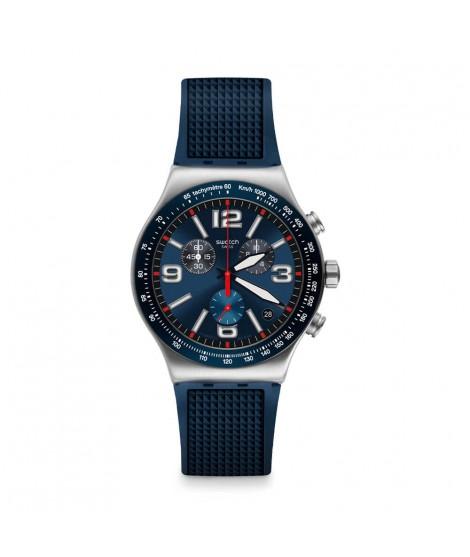 Cronografo uomo Blu Grid...