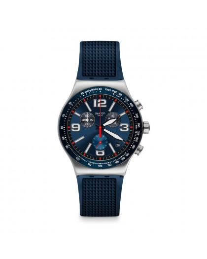 Cronografo uomo Blu Grid Swatch YVS454