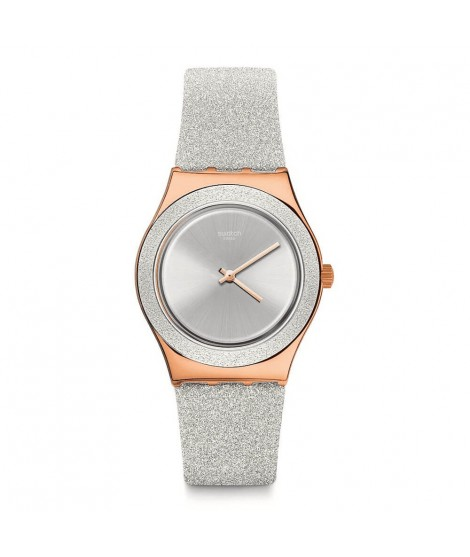 Swatch grey sparkle holiday collection YLG145 orologio donna