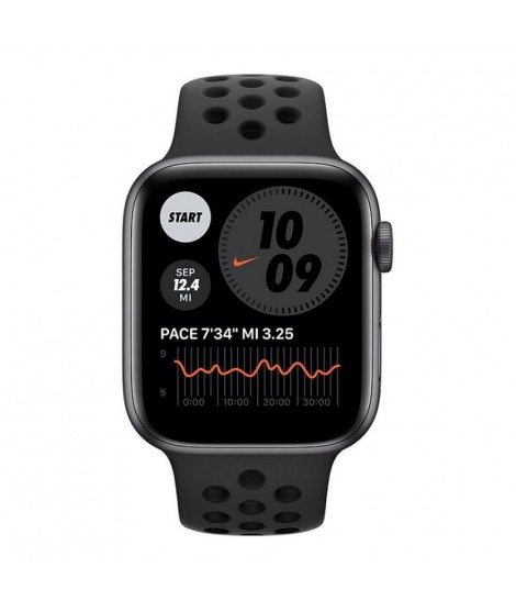 Smartwatch Apple Watch Series 6 Nike GPS 44mm Grey Aluminium Case with Sport Band - Black EU