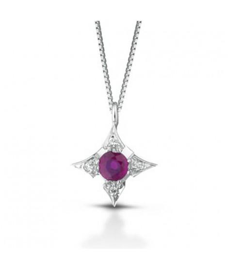 Punto Luce PG GIOIELLI con diamanti e rubino PL+P0R